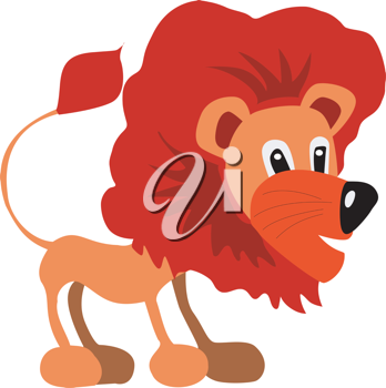 Royalty Free Clipart Image of a Lion