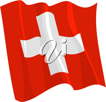 Royalty Free Clipart Image of a Swiss Flag