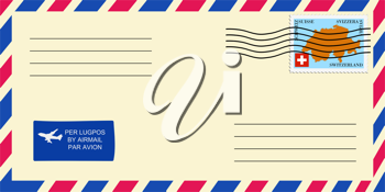 letter to/from Switzerland