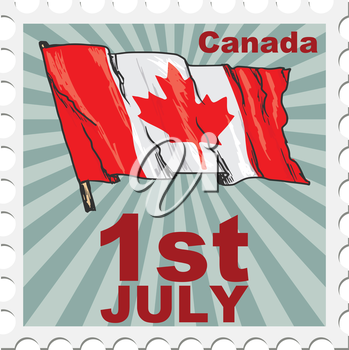 post stamp of national day of Canada