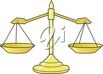 vector illustration of scales of justice