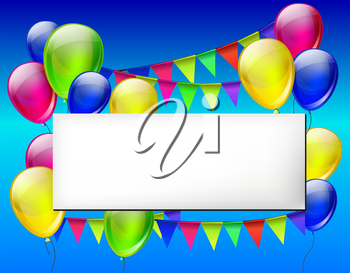 Background with color balloons for design