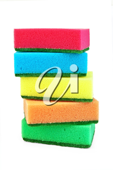 Royalty Free Photo of a Stack of Sponges