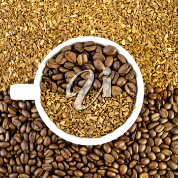 Royalty Free Photo of Coffee Beans and Grains