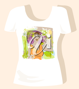 Royalty Free Clipart Image of a T-Shirt