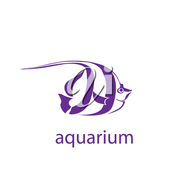 symbol of the tropical fish