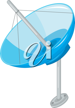 Royalty Free Clipart Image of a Satellite Dish