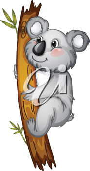 illustration of a white bear on a white background