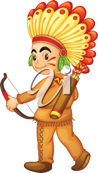 Illustration of a american indian