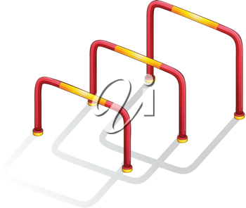 Isolated illustration of play equipment - hurdles