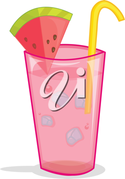an illiustration of a refreshing tropical drink