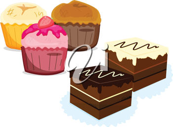 an illustration of a range of deserts