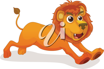 Illustration of a cute lion