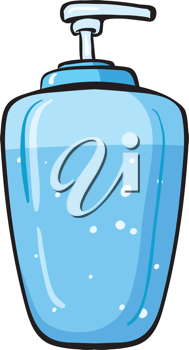 Illustration of a liquid soap container on a white background