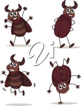 Illustration of a smiling beetles on a white background