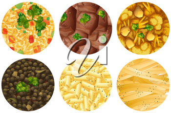 Different kind of food  illustration