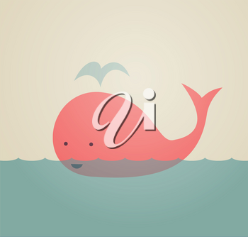 Royalty Free Clipart Image of a Whale