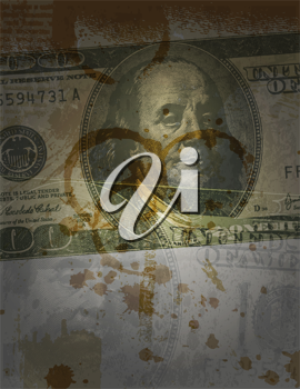 Royalty Free Clipart Image of a Hundred Dollar Bill