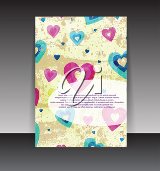 Royalty Free Clipart Image of a Heart Flyer Design