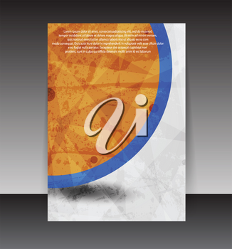 Royalty Free Clipart Image of a Flyer Design