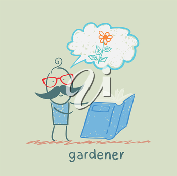 gardener reading about colors