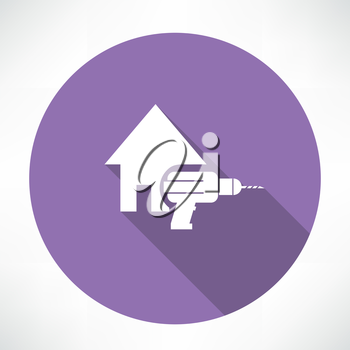 house and drill icon