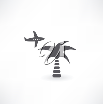palm and plane icon