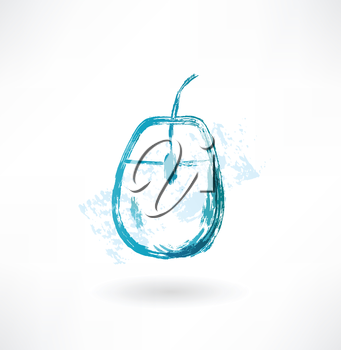 pc mouse grunge icon.