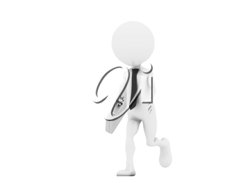 Royalty Free Clipart Image of a Figure with a Briefcase