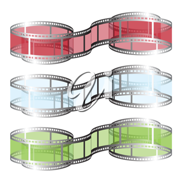 Royalty Free Clipart Image of Film Reels