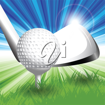Royalty Free Clipart Image of a Golf Ball