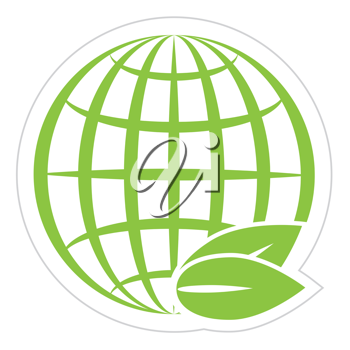 Royalty Free Clipart Image of a Green Globe