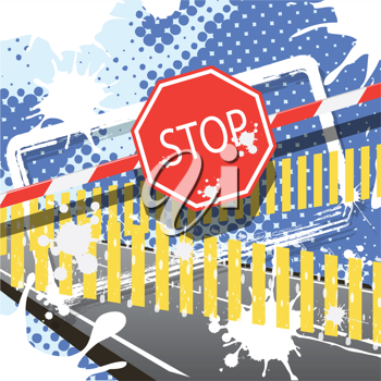 Royalty Free Clipart Image of an Abstract Stop Sign
