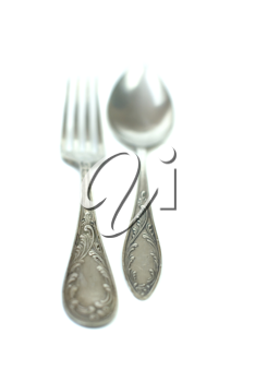 Royalty Free Photo of a Fork and Spoon