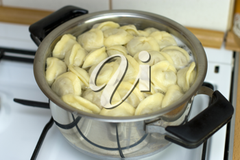 Royalty Free Photo of Pasta Being Cooked