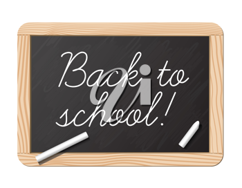 Royalty Free Clipart Image of a Back to School Chalkboard