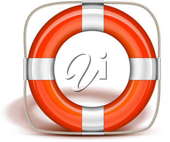 Royalty Free Clipart Image of a Life Preserver