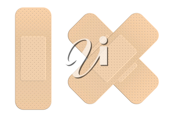 Royalty Free Clipart Image of First Aid Bandages