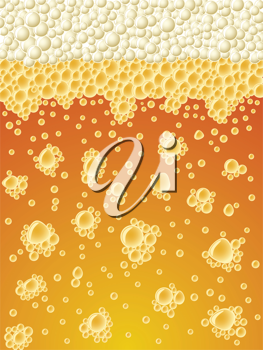 Royalty Free Clipart Image of an Abstract Beer Background