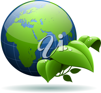 Royalty Free Clipart Image of an Environmental Protection Concept