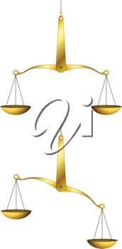 Royalty Free Clipart Image of Golden Scales