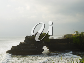 View on ocean coast at Tanah Lot area, Bali, Indonesia
