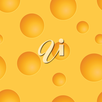 Seamless cheese yellow vector pattern.