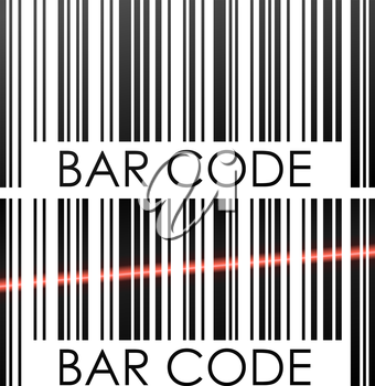 Bar code isolated on white background concept vector illustration.