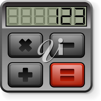 Abstract calculator icon isolated on white background.