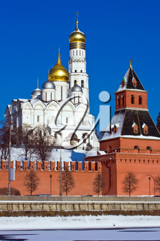 Royalty Free Photo of The Great Kremlin Palace and Cathedral of the Archangel Michael