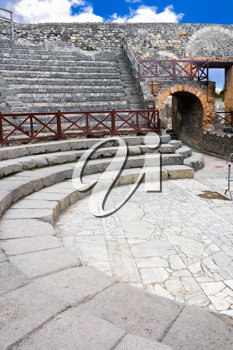 Royalty Free Photo of a Small Amphitheatre in Pompeii Italy
