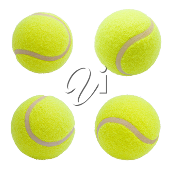 Nice Tennis balls isolated on white background