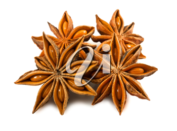 Royalty Free Photo of a Group of Anise Stars