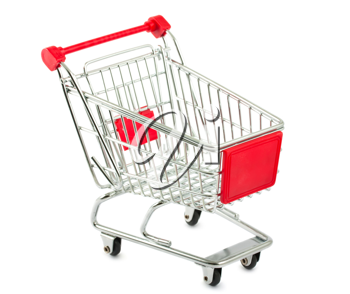 Royalty Free Photo of a Metal Shopping Cart